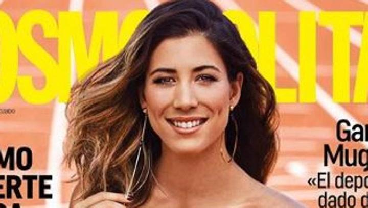 Garbiñe Muguruza, deslumbrante en la portada de la revista 'Cosmopolitan'