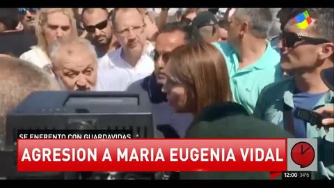 María Eugenia Vidal enfrentó a guardavidas que se arrojaron sobre su camioneta