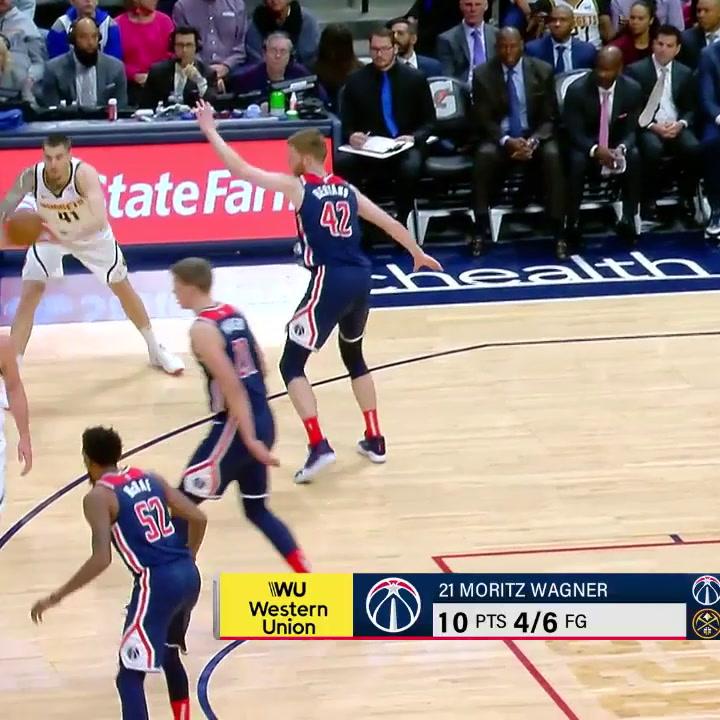 La actuación de Juancho Hernangómez  ante los Washington Wizards