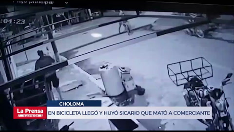 En bicicleta llegó y huyó sicario que mató a comerciante en Choloma