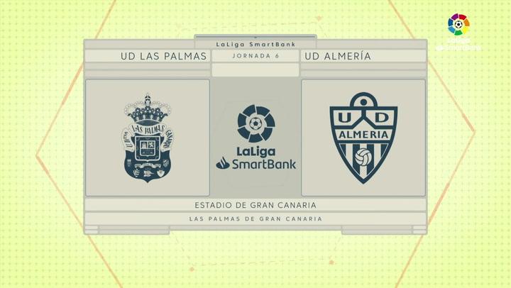 LaLiga Smartbank: Resumen y goles del Las Palmas 2-0 Almería