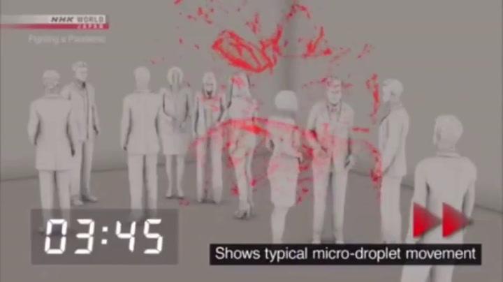 Descubren en Japón una tercera posible vía de contagio del SARS-CoV2