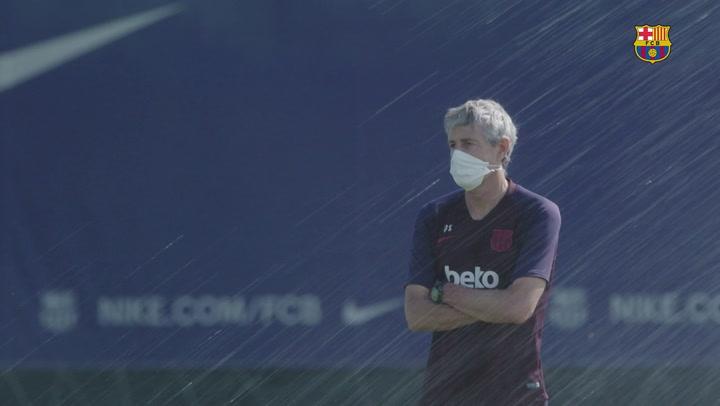 El Barça ya entrena con grupos de más de 10 jugadores