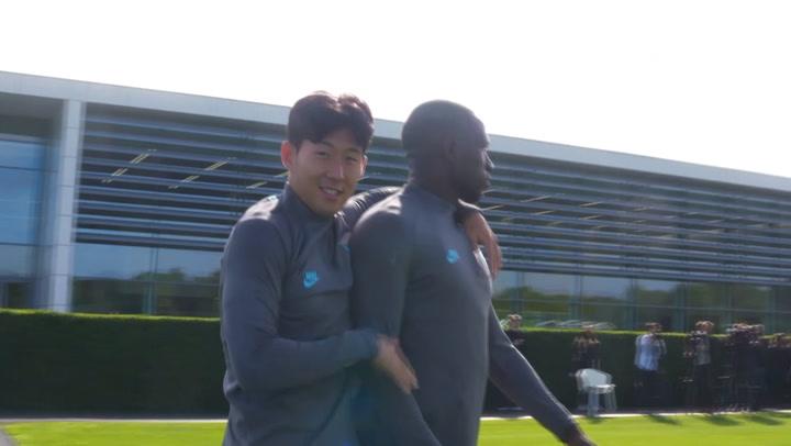 Spurs train ahead of Bayern Munich tie
