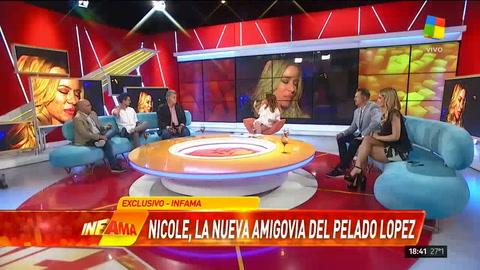 Adiós Moyano: Nicole y el Pelado López se mostraron muy juntitos