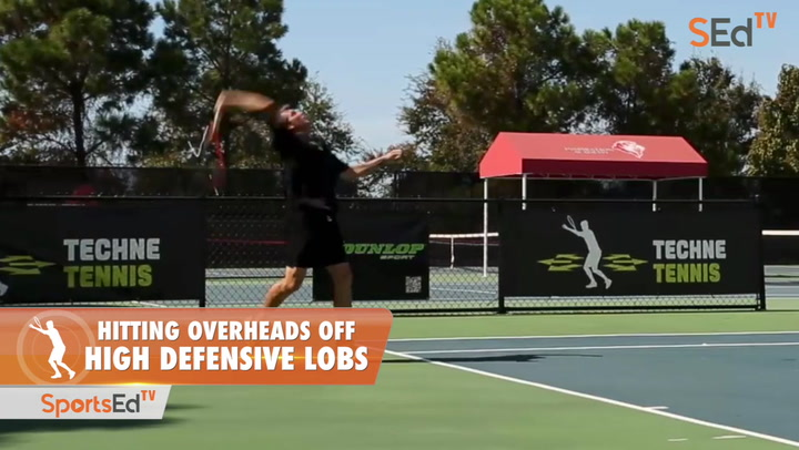 Hitting Overheads Off  High Defensive Lobs