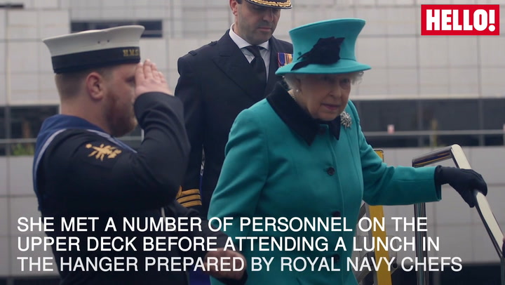 Queen visits Royal Navy frigate to celebrate its 20th anniversary