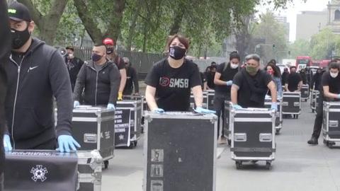 El arte chileno protesta por su situación de marginalidad tras cierre del ocio