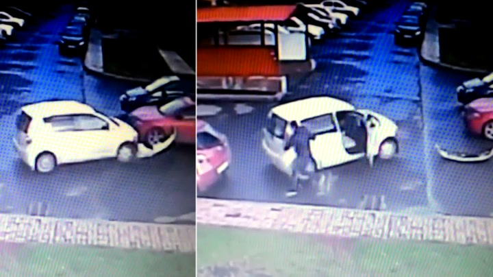 Klønete sjåfør med parkeringstabbe av en annen verden