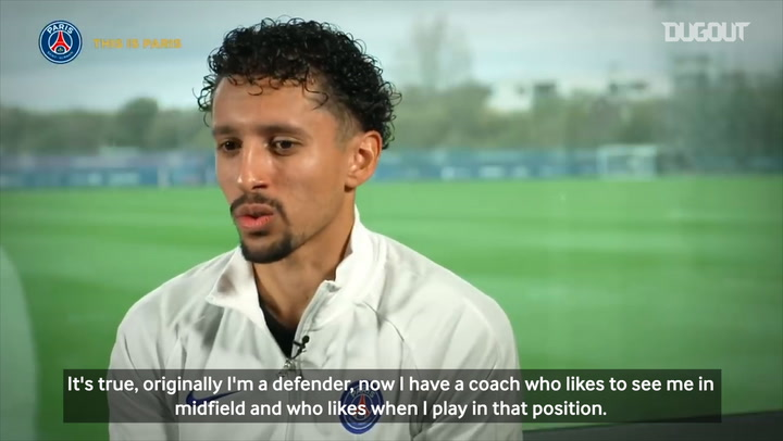 Marquinhos: 'Now I have a coach who likes to see me in midfield'