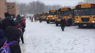 School ends early on Tuesday with snowstorm on way