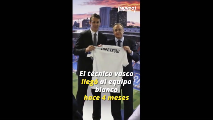 La destitución de Julen Lopetegui en el Real Madrid