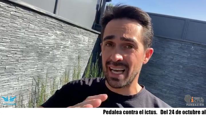 Alberto Contador pedalea contra el Ictus