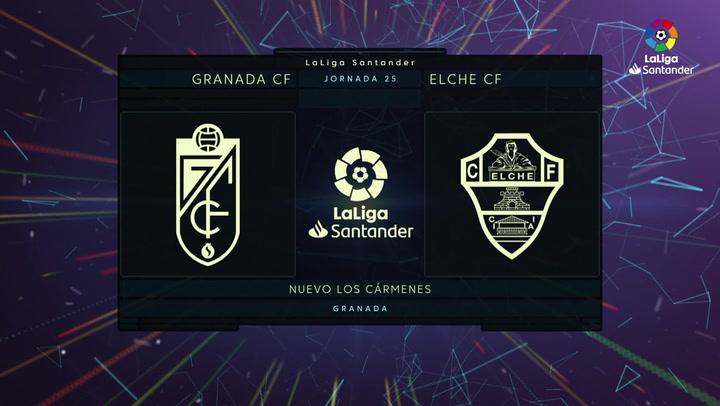 LaLiga Santande (j25): Resumen y goles del Granada 2-1 Elche