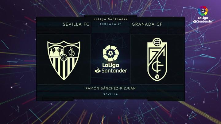 LaLiga (J21): Resumen y goles del Sevilla 2-0 Granada