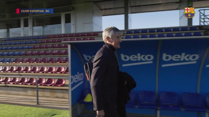 Así fue el primer día de Quique Setién como entrenador del Barça