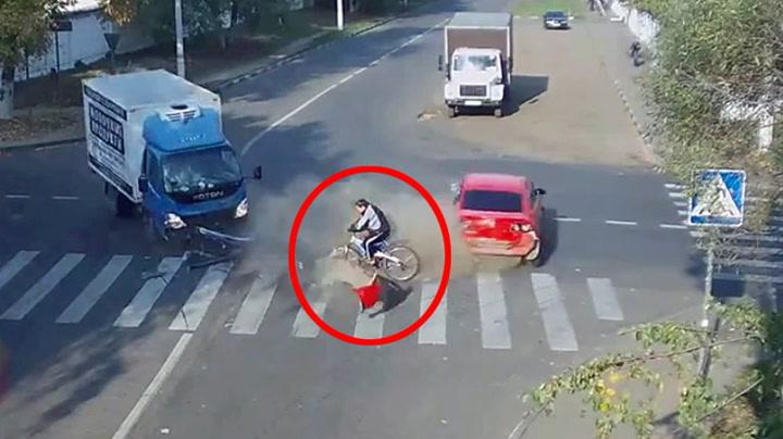 Her har syklisten griseflaks