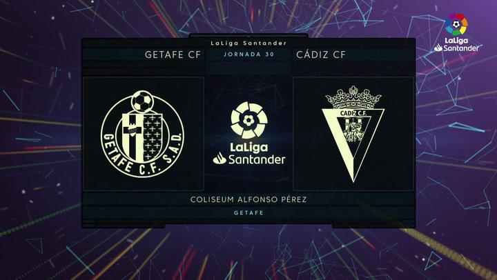 LaLiga (J30): Resumen y goles del Getafe 0-1 Cádiz