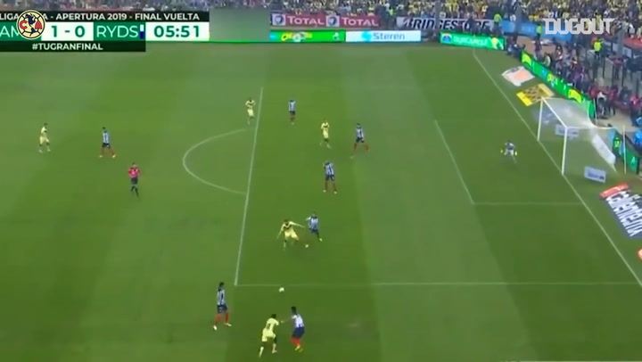 Federico Viñas's great turn and finish vs Monterrey in the 2019 Apertura Final
