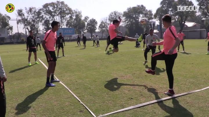 En el Entrenamiento: Club América continúa con la preparación