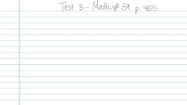 Test 3 - Math - Question 59