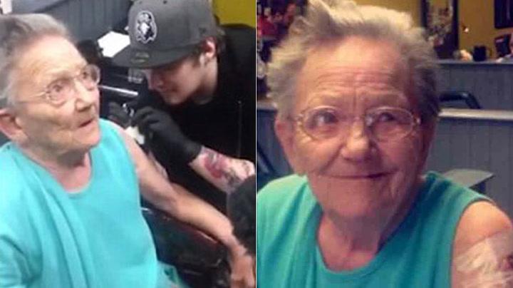 Oldemor rømte fra gamlehjemmet – tok tatovering