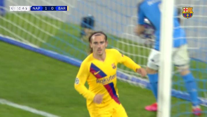 Antoine Griezmann's goal secures advantage for Barça over Napoli