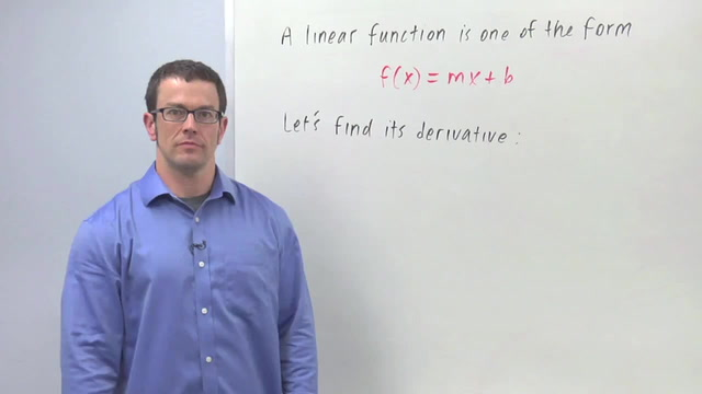 Derivatives of Linear Functions