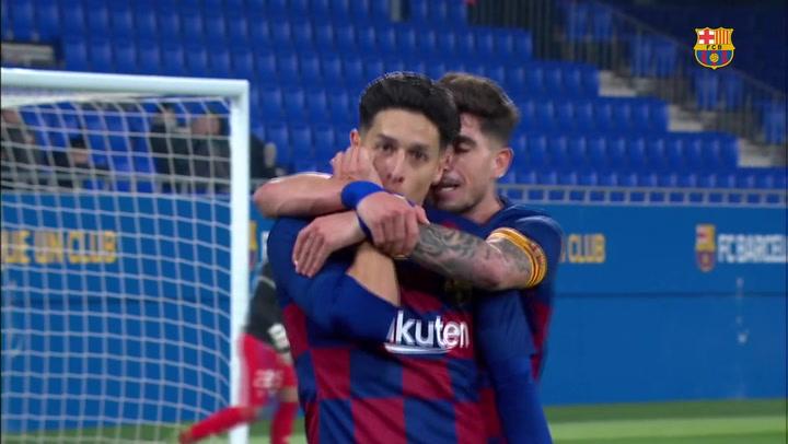 Resumen del Barça B-Ejea (2-0)