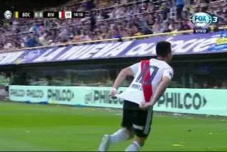 River está venciendo a Boca con golazo de Gonzalo Martínez en La Bombonera