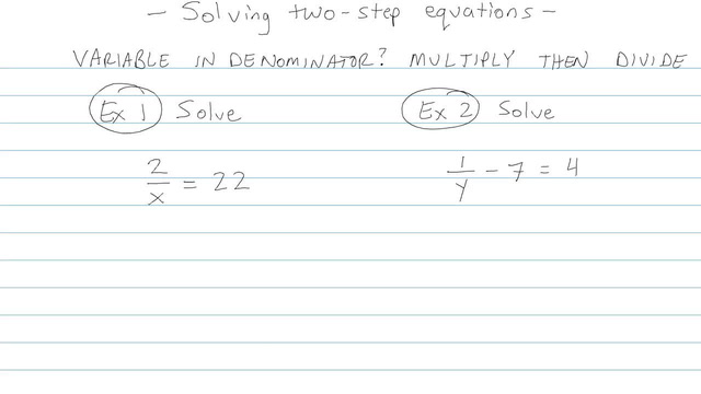 Solving Two-step Equations - Problem 7