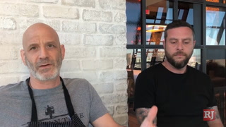 Marc Vetri and Dan Krohmer discuss collaboration dinner