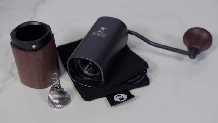 Preview image of Timemore Chestnut G1 Hand Grinder with Walnut Base video