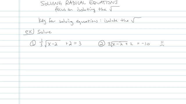 Solving Radical Equations - Problem 8
