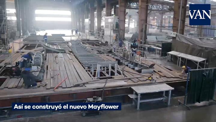 Así se construyó el nuevo Mayflower