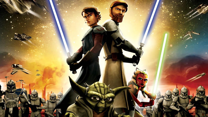 Image result for star wars clone wars 2007 poster horizontal