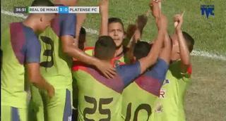 ¡Gol de Real de Minas! Aldo Oviedo hace el 3-0 ante Platense