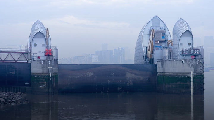 Thames Barrier shuts for annual test ahead of 200th operational closure