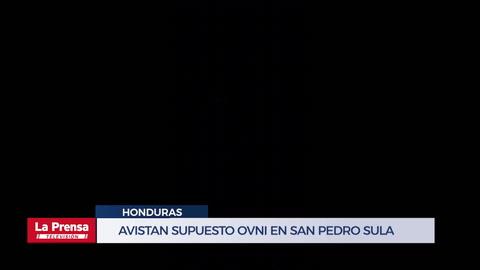 Avistan supuesto Ovni en San Pedro Sula