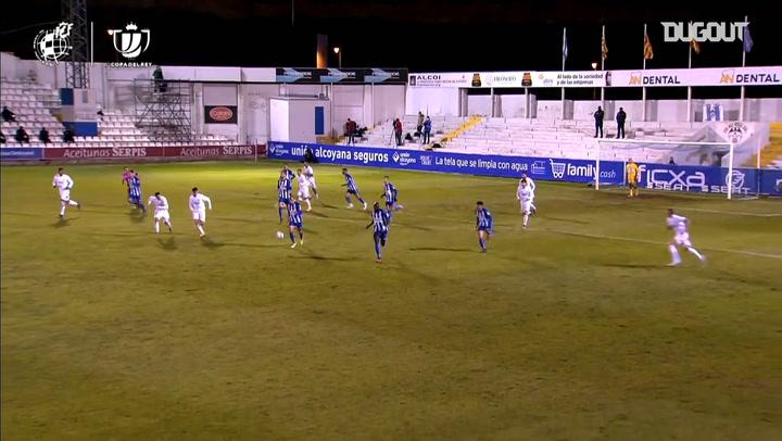 El gol del Alcoyano en la prórroga que eliminó al Real Madrid