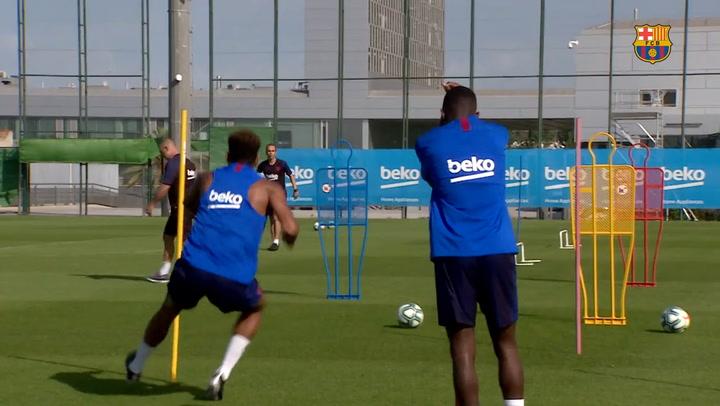 Dembélé y Todibo ya entrenan a tope