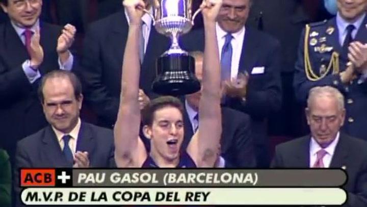 Pau Gasol, MVP de la Copa del Rey 2001