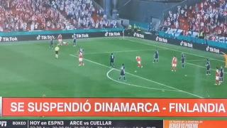 Eriksen se desploma durante el Dinamarca-Finlandia en la Euro 2021