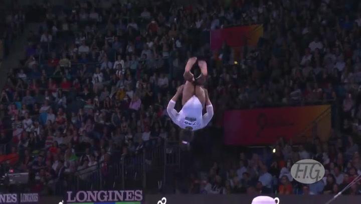 Espectacular ejercicio de Simone Biles en suelo en el Mundial de gimnasia