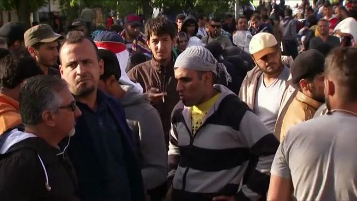 Vrijwilligers in actie bij Kroatische grens