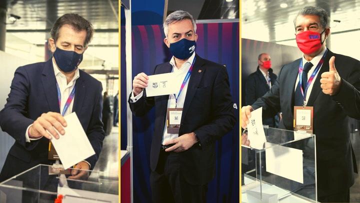 Elecciones Barça: Los tres candidatos ya han votado