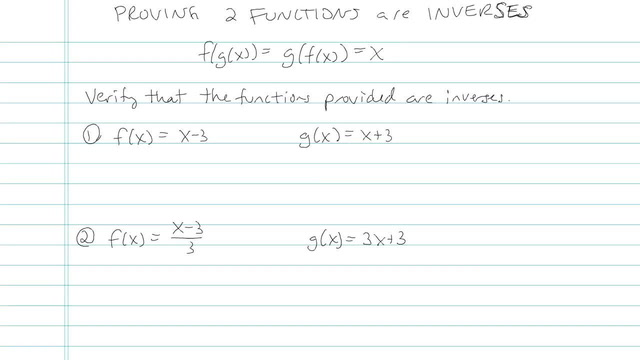 Proving Two Functions are Inverses - Problem 3