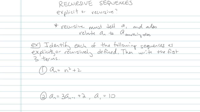 Recursion Sequences - Problem 3