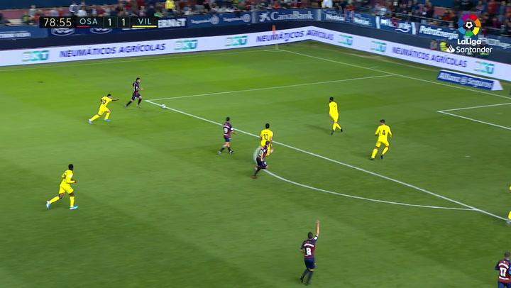 Gol de Ávila (2-1) en el Osasuna 2-1 Villarreal