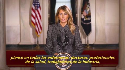 Melania Trump se despide instando a escoger el amor sobre el odio